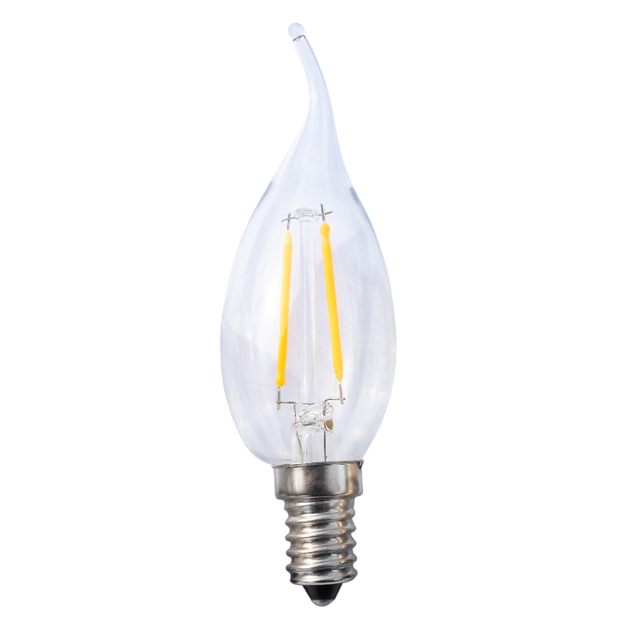 New E14 2W 4W 6W COB LED Lamp Filament Glass Blub AC220V Light Retro Candle bent-tail/pointed-tail/Spherical Lighting 10pcs/lot