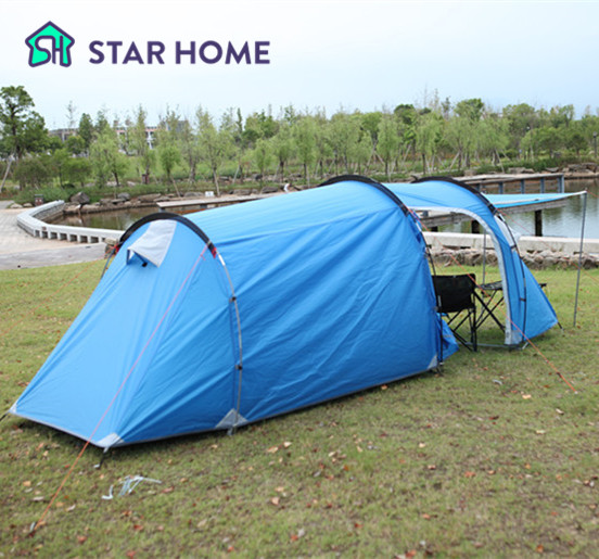 STARHOME 2-3 Persons Camping Tent One bedroom & One Living Room Tent Double Layers Outdoor Family Tent