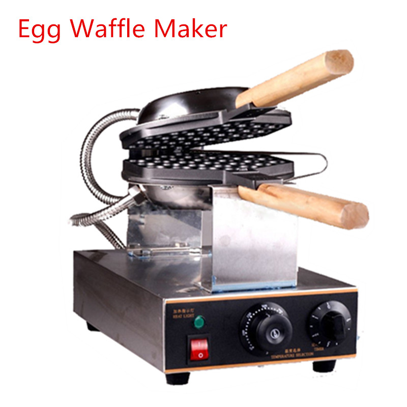 Household Electric Egg Bubble Waffle-Maker 30 Holes Double Baking Non-Stick Plate 220V Waffle Making Machine English Manual directly factory price commercial electric double head egg waffle maker for round waffle and rectangle waffle