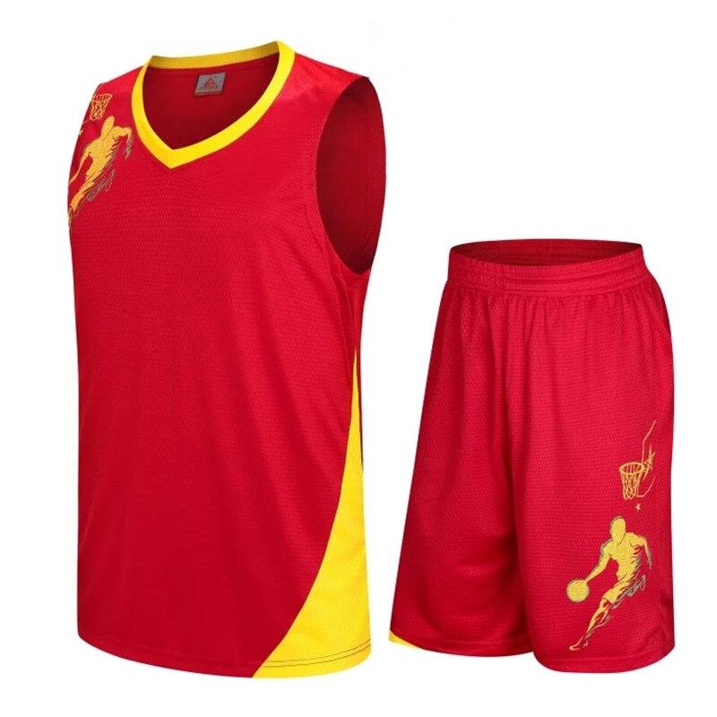 Ομαδικά αθλήματα 2018 New Men Basketball Jersey Sets Uniforms kits Adult  Sports clothing Breathable basketball jerseys shirts shorts DIY Custom 72d0d8e2b