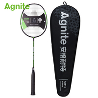 Agnite Profession Badminton racket full carbon feather shot offensive all around single shot F2115 with a badminton string bag