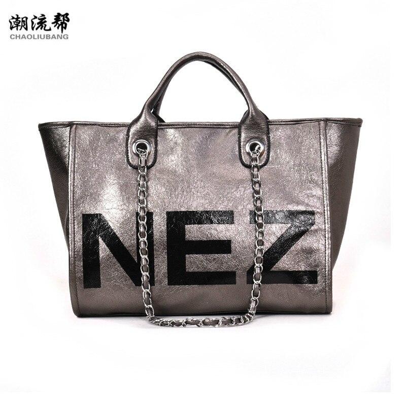 New Fashion Totes Large Capacity Ladies Simple Shopping Handbag PU Leather Shoulder Luxury Women Bags Designer Bolsa Feminina