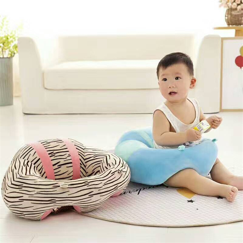 infant learning sit baby support seat soft nursing cotton travel car home sofa wrap pure learn sit anti static pillow protection