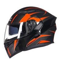 Motorcycle Helmets Motocross Double Lenses Flip Up Four Seasons Racing Capacete Moto Full Face Protrctive Outdoor