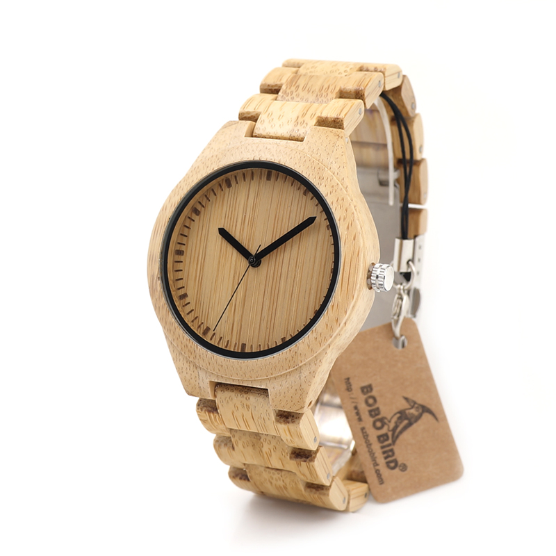 2017 BOBO BIRD Watch Men Luxury Brand Bamboo Wristwatches Male Wood Watches  Gifts Clock Relogio masculino C G27 -in Quartz Watches from Watches on ... a6273b79442