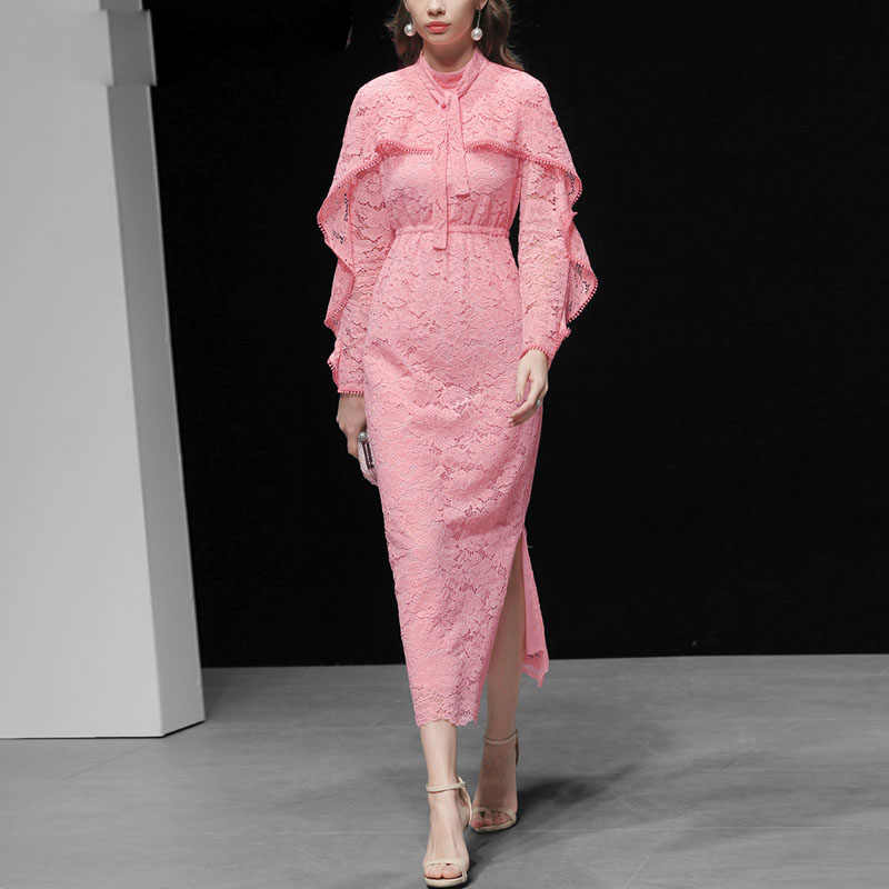 3d5ee7fc0a2b1 Detail Feedback Questions about 2019 Runway Long Dress High Quality ...