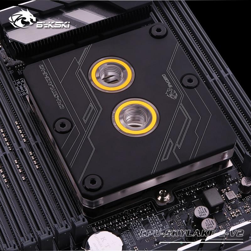 CPU SKYLAKE E V2 Bykski black CPU cooler Support LGA3647 SKYLAKE water cooling cpu block processor