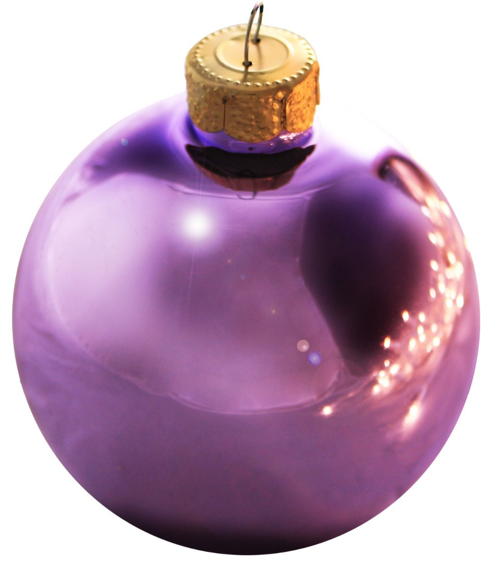 Lavender christmas ornaments - Free Shipping Event Party Wedding Festival Supplier Christmas Xmas Tree Ball Decoration 80mm Soft Lavender Ball