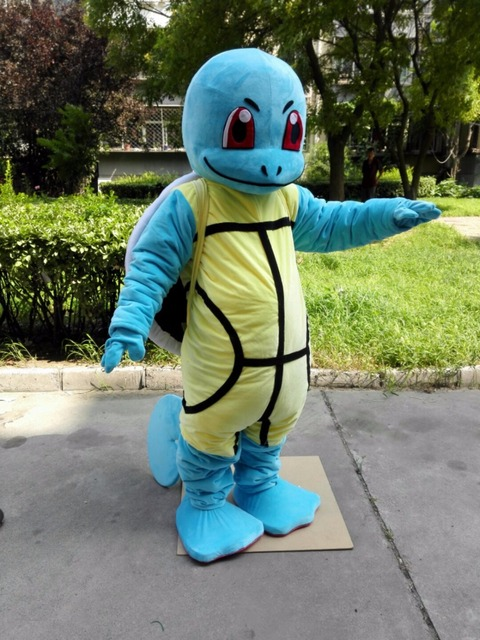 Squirtle Costume Adults Turtle Mascot Costume Squirtle Blue Turtle