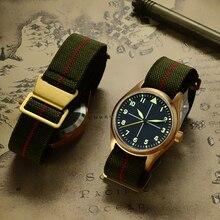 San Martin Men Pilot Automatic Watches Vintage Diving Wristwatch 200m Water Resistant Sapphire Glass Bronze Watch for Man Women