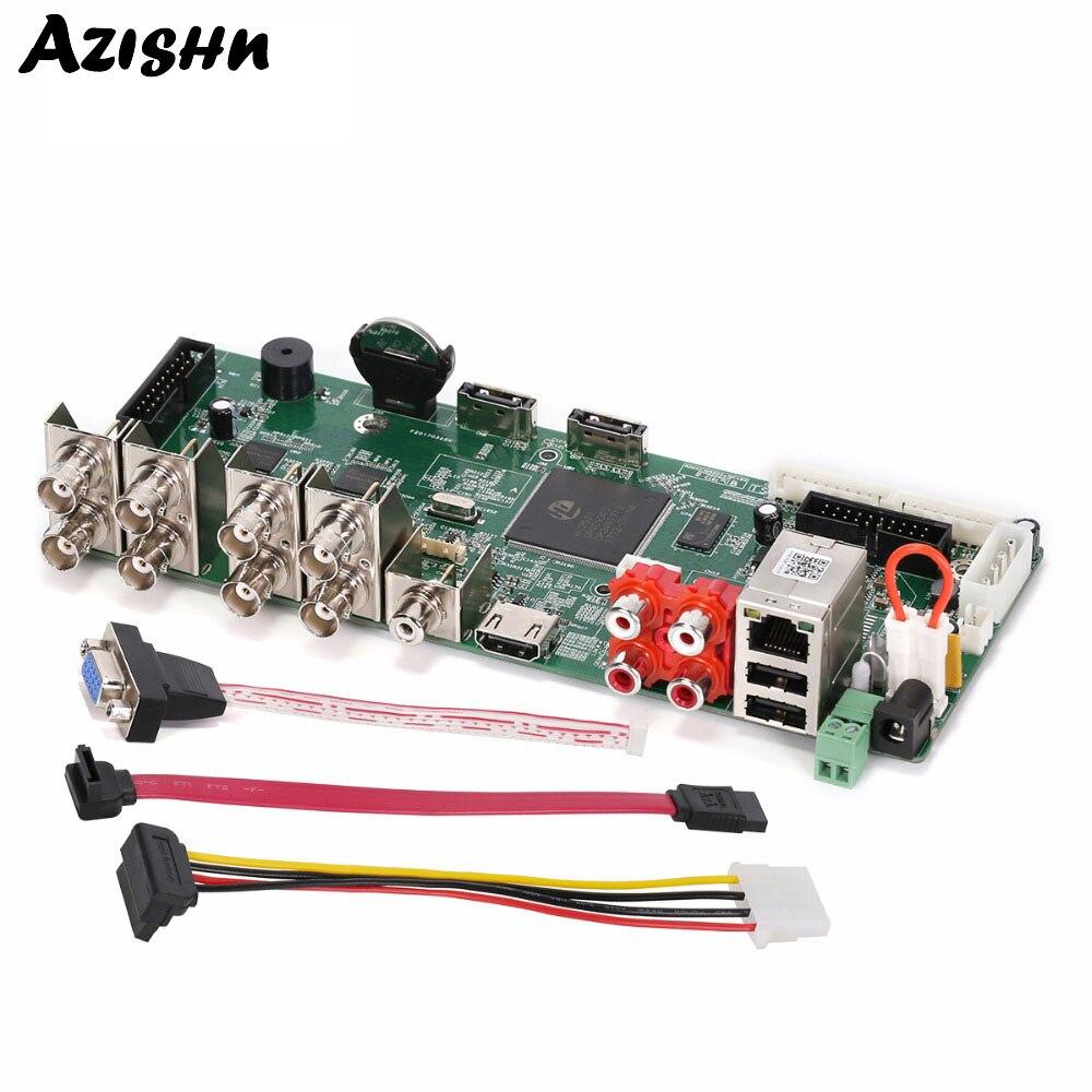 AZISHN HD 8CH 1080N 5 в 1 Hybrid DVR H.264 ONVIF сетевого видео Регистраторы CCTV NVR AHD/CVI/TVI/CVBS HDMI Выход безопасности Системы