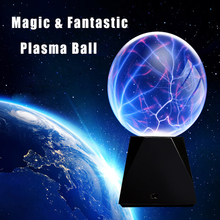 Novelty Household Plasma Ball lamp Lightning Lighting Induction Night Lights Gift For Kids Home Party Bar Indoor Luminaria Decor