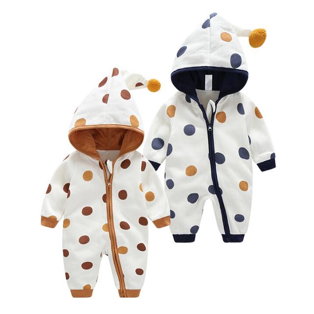 Mono bebé ropa gruesa caliente de la caída y ropa de invierno recién nacido al aire libre en invierno ropa de escalada Mameluco trajes de baño acolchada