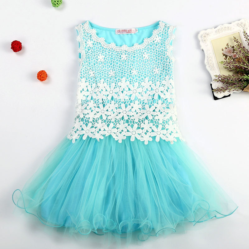 Princess Party Dresses For Girls Wedding Dresses Floral lace Kids Summer evening dress prom dresses girls in Dresses from Mother Kids