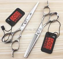 6 0Inch Kasho Professional Barbers Cutting Scissors and Thinning Scissors Kits Human Hair Scissors for Salon