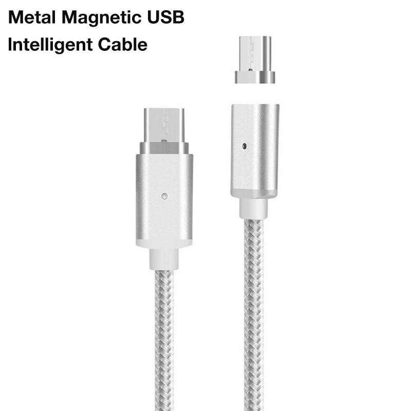 Magnetic Nylon Braided Type C Fast Charging Cable For Huawei Mate 10 Pro Mate 9 Pro P10 Plus High Speed Type C Charging Cable in Data Cables from Consumer Electronics