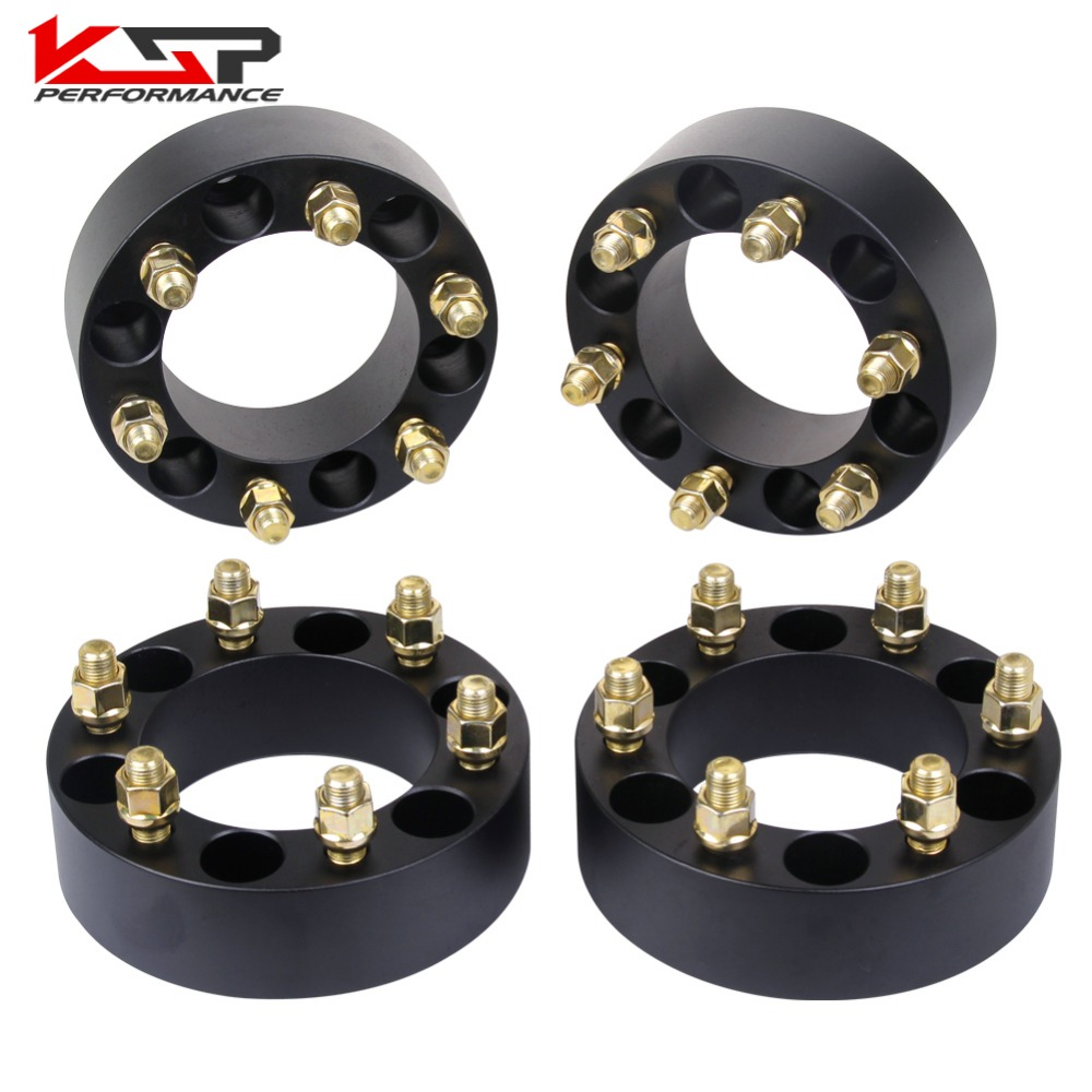 KSP (4) 2 50mm 6 Lug Wheel Spacers Adapters 6x5.5 To 6x5.5 (139.7) 108mm Bore M14x1.5 Studs For Chevrolet For GMC 4pcs billet 4 lug 14 1 5 studs wheel spacers adapters for kia cerato