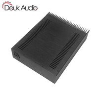 Douk Audio Front Panel Radiating Aluminum Chassis Power Amplifie Cabinet DIY Case Black Box
