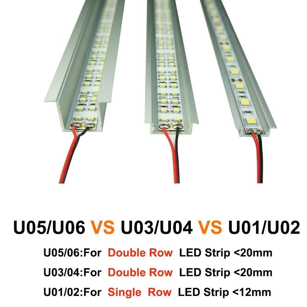 6.6ft / 2M 20 Pack (131ft / 40M) 9x17 մմ Black U ձևանմուշ - LED լուսավորություն - Լուսանկար 5