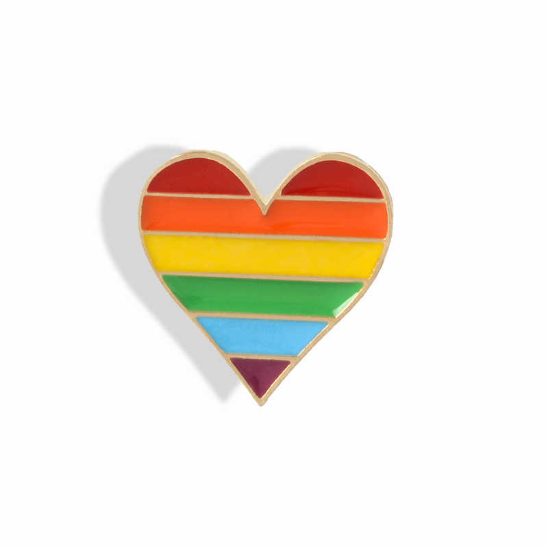 7d1837803c0 Rainbow Pride Enamel Pin LGBT pins Rainbow Heart Enamel pin Gay Pride Flag  Lapel pin Shirt