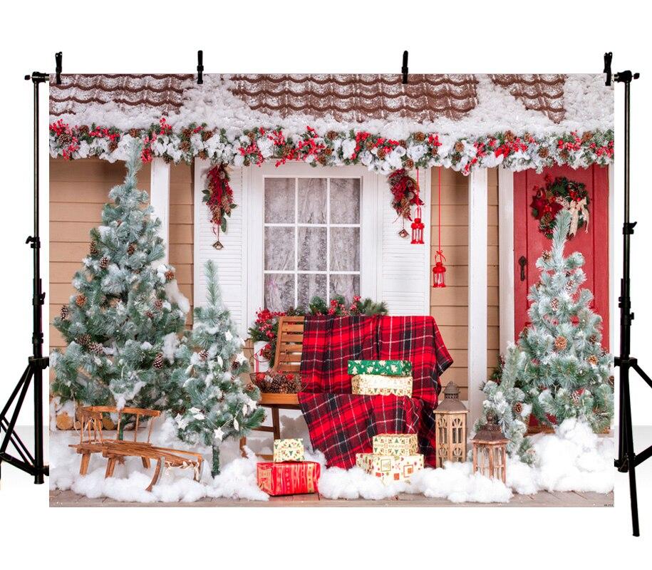 Christmas Vinyl Photography Background Chirstams Tree Winter House Bell Garland Children Custom Photo Backgrounds ZH-272 retro background christmas photo props photography screen backdrops for children vinyl 7x5ft or 5x3ft christmas033
