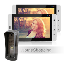 Wholesale New Wired 7″ Color Touch Screen Video Door Phone Intercom Kit + 2 White Monitors + 1 Night Vision Doorbell Camera FREE SHIPPING