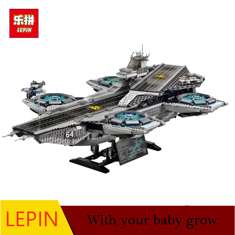 DHL LEPIN 07043 3057Pcs Super Heroes The SHIELD Helicarrier Model Building Kits Blocks Bricks Boy Toys Compatible 76042 dhl free shipping lepin 16002 pirate ship metal beard s sea cow model building kits blocks bricks toys compatible legoed 70810