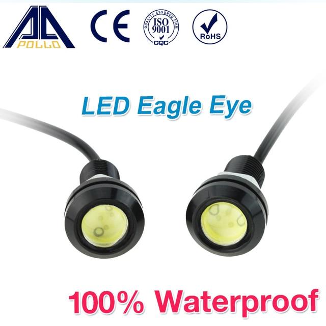 1pcs 18MM Led Eagle Eye DRL Daytime Running Lights Source Backup Reversing Parking Signal Lamps Waterproof Free Shipping
