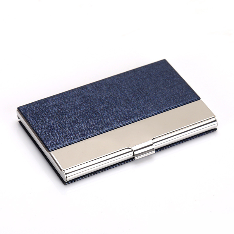 Fashion Solid Men\'s stainless steel credit card holder id business ...