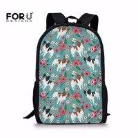 FORUDESIGNS/детские школьные сумки  набор для подростков  девочек  Schnauzer  с принтом  сумка-карандаш  солнцезащитные сумки для молодых женщин  рюкза...