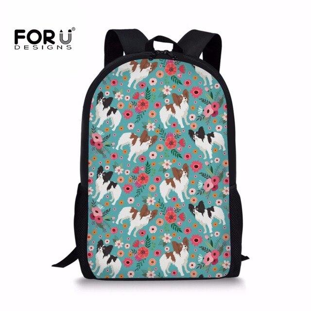 FORUDESIGNS Children s School Bags Set For Teenagers Girls Schnauzer Print  Book Pencil Bag Sun Young Women Backpacks Custom Made 12fffe75c90c4