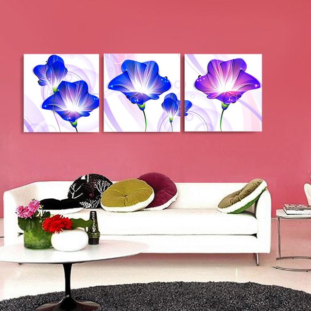 Cartoon Simple Flowers Modern Decoration Painting No Frame Canvas ...