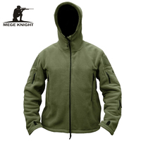 MEGE Brand Men Military Clothing Tactical Fleece Jacket Outdoor Casual Coat Hoody Army Outwear Winter Jacket