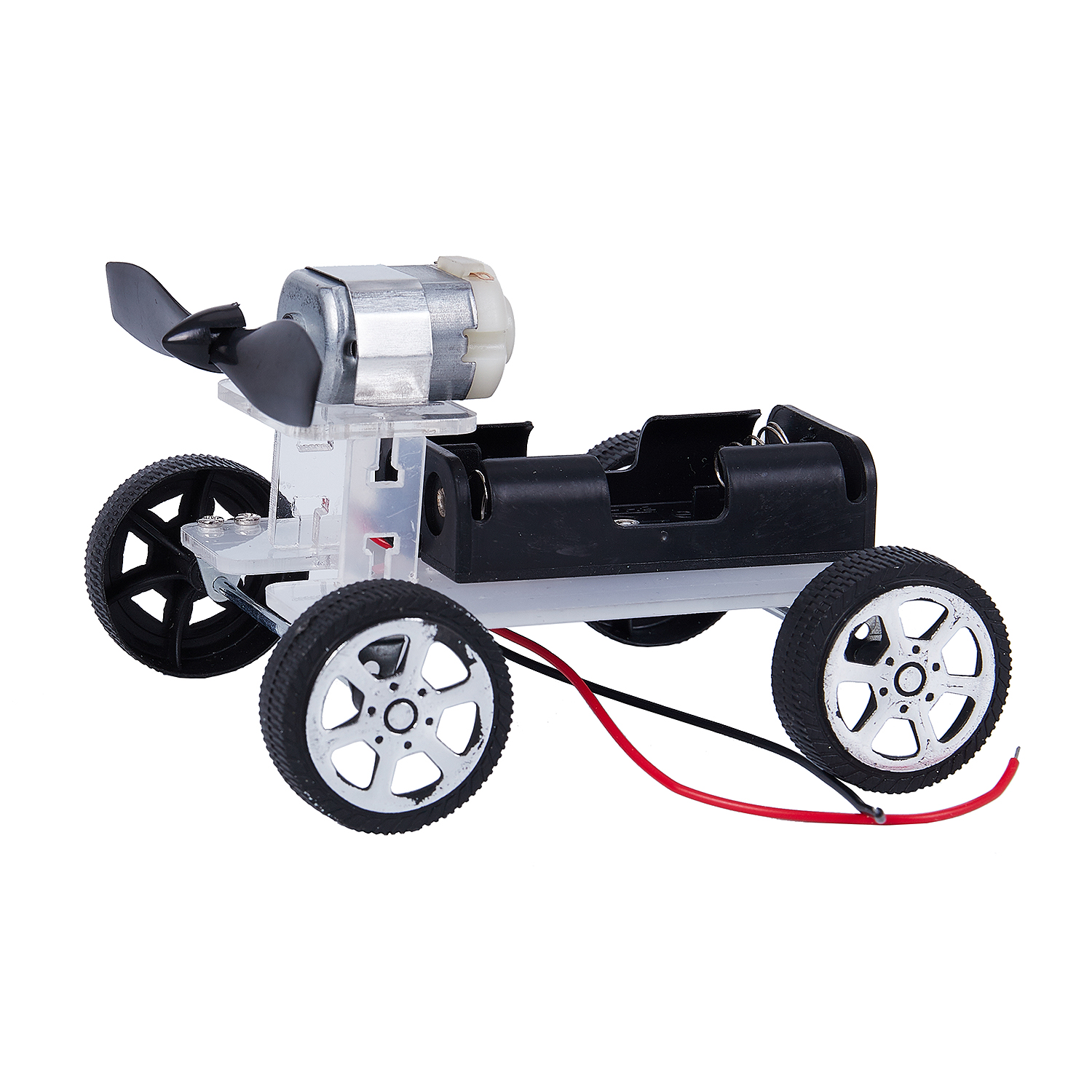 Mini DIY Puzzle Wind Car Child Educational Toy 130Brush Motor Robot For Arduino