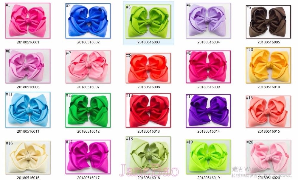 free shipping 120pcs 5 6 double layered boutique hair bows stacked ABC girl hair accessories bows