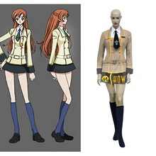 Japonés New Anime Cosplay Code Geass School Girl uniforme Cosplay venta de Halloween partido ropa