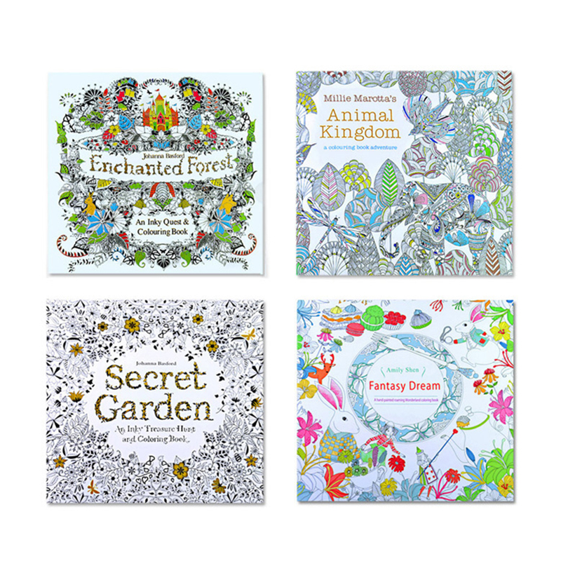 1 Unid 24 Páginas De Libros Para Colorear Mandalas Notebook Niños
