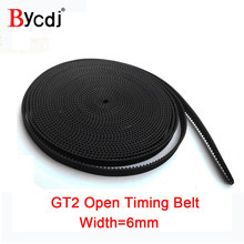 GT2 timing belt wide 6mm Rubber 2GT-6/2GT-9mm Small Backlash for 3d printer RepRap Mendel CNC 2GT belt pulley High Quality
