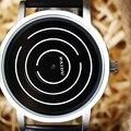 Tocadiscos Dial Reloj de Los Hombres Del Deporte de moda Estilo Militar Reloj de pulsera de Cuarzo Correa de Cuero Ocasional Del Relogio masculino Reloj Q0806