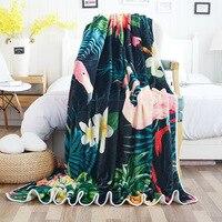 Flamingo Tropical Plants Air Conditioner Blankets for Beds Birds Sofa/Air/Bedding Throw Blanket Cover Manta Plaids koc narzuta
