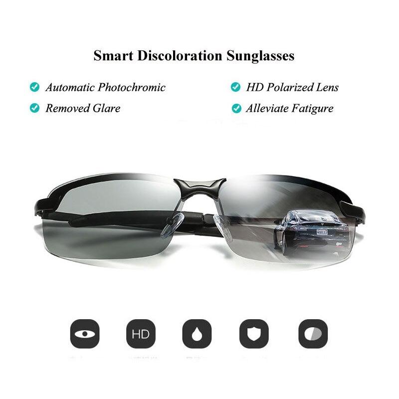 ecc1ff5a8f9 AORON 2018 Photochromic Polarized Sunglasses Women Men Brandd Design Discoloration  Glasses Anti Glare Eyewear HD Driving Goggles-in Sunglasses from Apparel ...