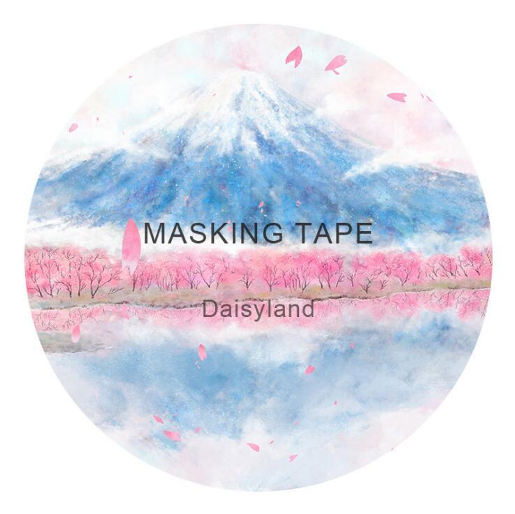 6 CM Wide Japanese Fuji Cherry Sakura Washi Tape Adhesive Tape DIY Scrapbooking Sticker Label Masking Tape fuji 4mm cleaning tape for dds drives