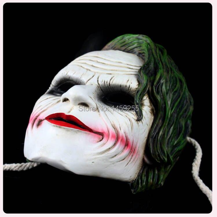 Joker Maske Batman Dark Knight Palyaço Kostüm Cosplay Film - Tatiller ve Partiler Için - Fotoğraf 2