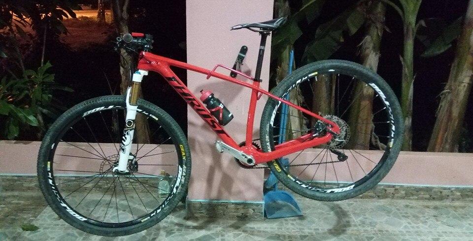 Горный велосипед из углеродного волокна 17 19, 27,5*15 дюймов, 27 скоростей, колеса 29er, гидравлический тормоз, полный горный велосипед