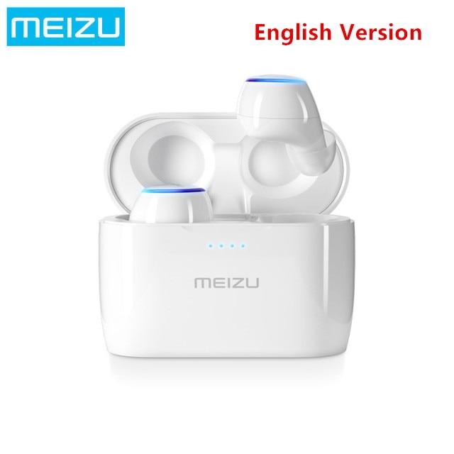 все цены на 2018 Original Meizu POP TW50 True Wireless Bluetooth Earphone Mini TWS Sport Headset For Xiaomi iphone 7 8 Plus Samsung English онлайн