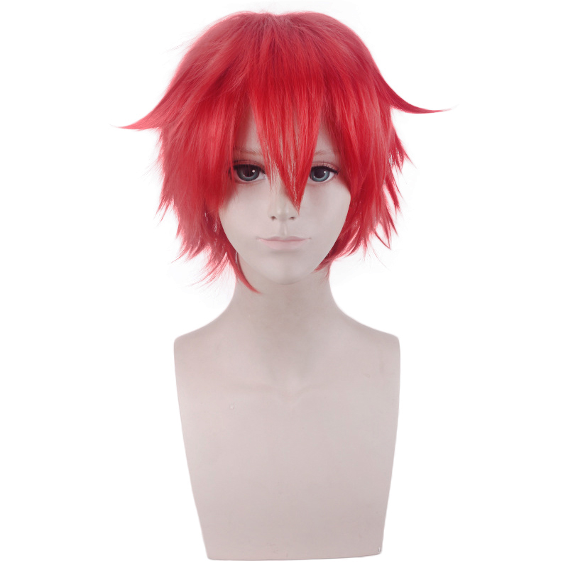 Anime SSSS.GRIDMAN Hibiki Yuta Red Short Wig Cosplay Costume Men Women Heat Resistant Synthetic Hair Halloween Party Wigs