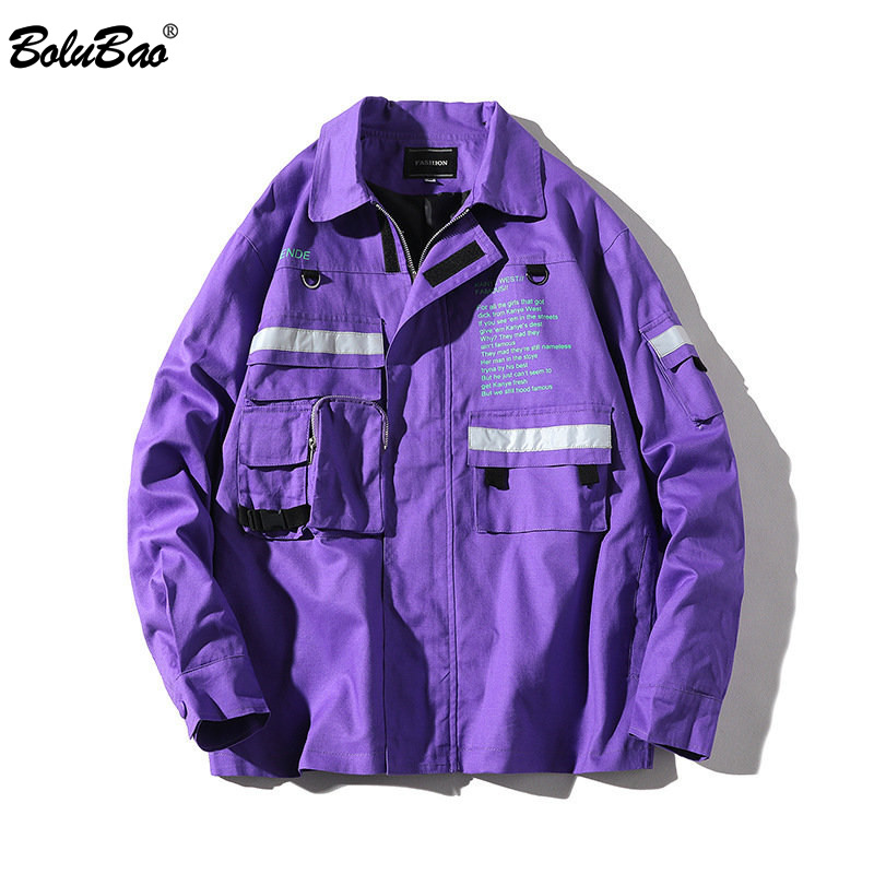 BOLUBAO Fashion Brand Jacket Men Spring Autumn Men's Solid Color Outerwear Coats Male Hip Hop Jackets Coat