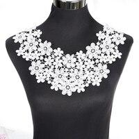 1 Pcs White Sewing Craft Neckline Lace Collar Applique BW013