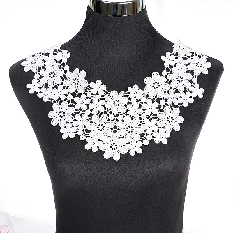 1 Pcs White Sewing Craft Neckline Lace Collar Applique  BW013