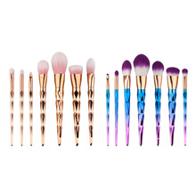 7pcs/set High-qulity Makeup Brush Set Rosegold Colorful Pro Foundation Powder Blush Eyelash Eyeshadow Make Up Tools Kits